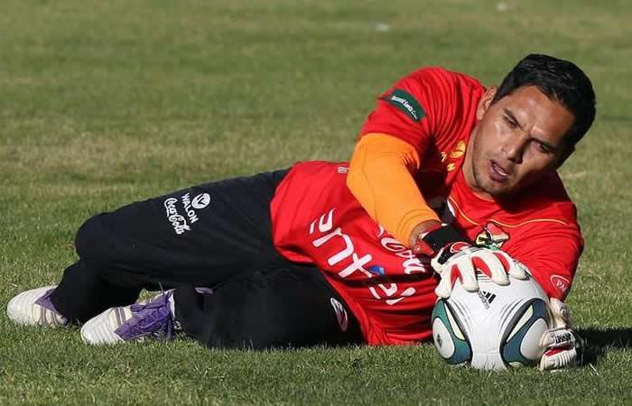 Daniel Vaca portero de Bolivia. Foto: EFE