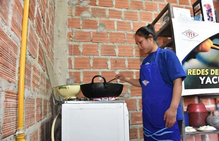 Gas domiciliario en Bolivia. Foto: ABI.