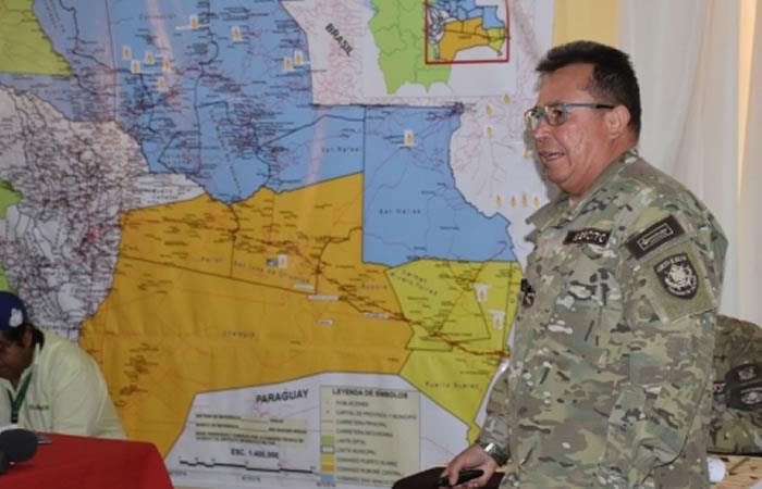 Comandante en jefe de las Fuerzas Armadas (FFAA), Williams Kaliman. Foto: ABI.