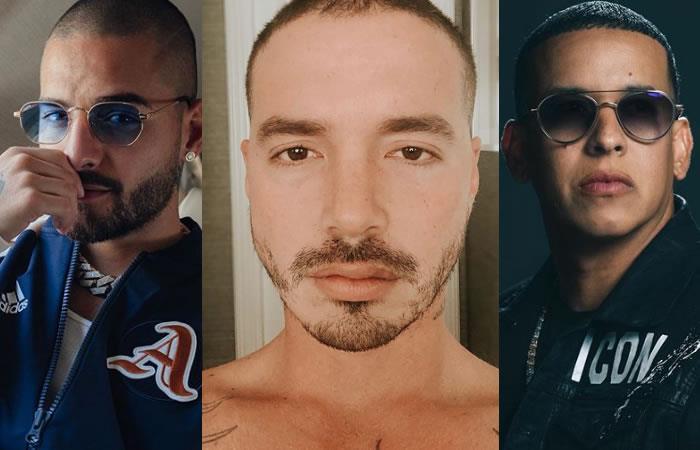 A los reguetoneros, entre ellos Maluma, J Balvin y Daddy Yankee le respondieron. Foto: Instagram oficiales.