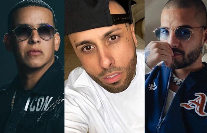 Los cantantes reguetoneros Daddy Yankee, Nicky Jam y Maluma mostraron su descontento. Foto: Instagram