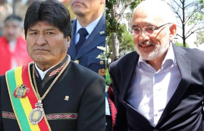 Evo Morales y Carlos Mesa son dos de los candidatos a la Presidencia de Bolivia. Foto: EFE Y ABI.