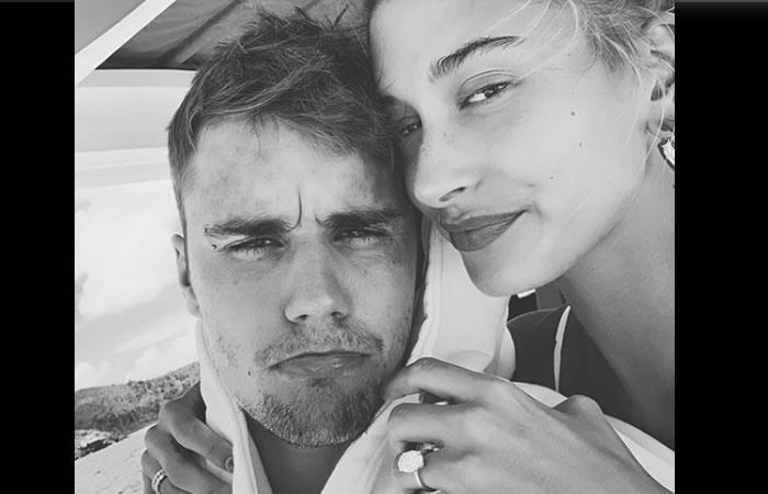 Justin junto a su esposa Hailey. Foto: Instagram