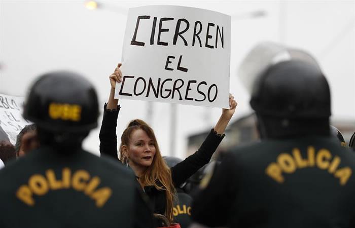 Crisis en Perú. Foto: EFE.