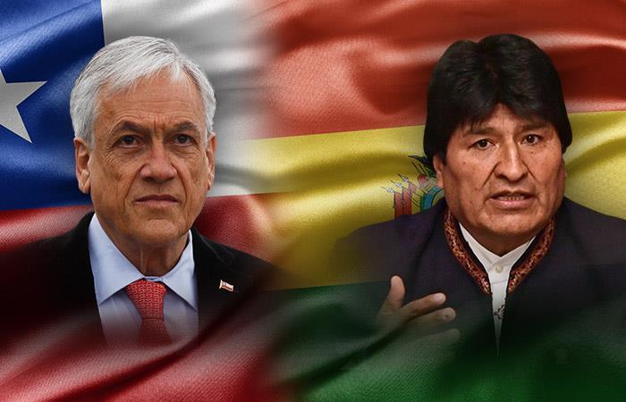 Presidente de Chile, Sebastián Piñera y el presidente de Bolivia, Evo Morales. Foto: ABI.