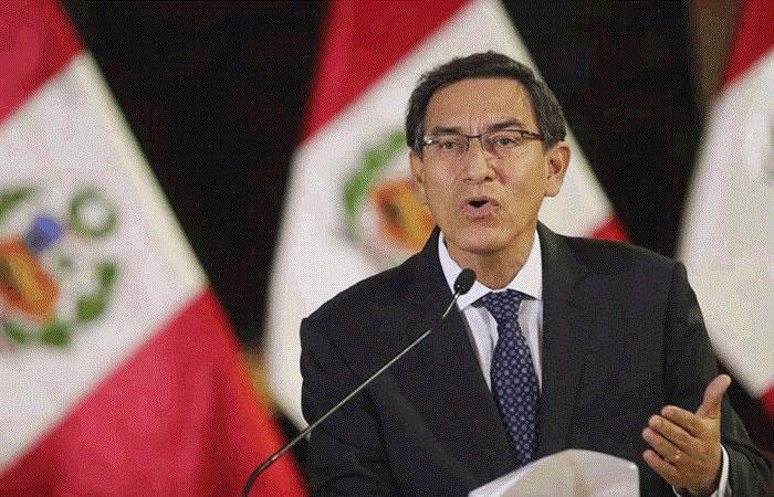 Presidente de Perú, Martín Vizcarra. Foto: EFE.