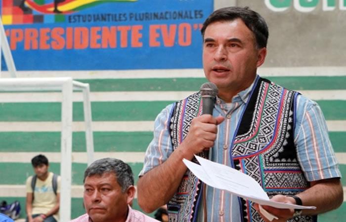 Ministro de la Presidencia, Juan Ramón Quintana. Foto: ABI.