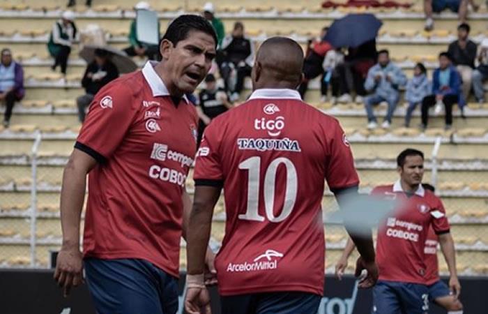 Club Wilsterman en la disputa ante Bolívar en La Paz. Foto: Instagram oficial @clubdeportivojorgewilstermann