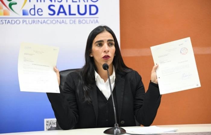 Ministra de Salud, Gabriela Montaño. Foto: ABI.