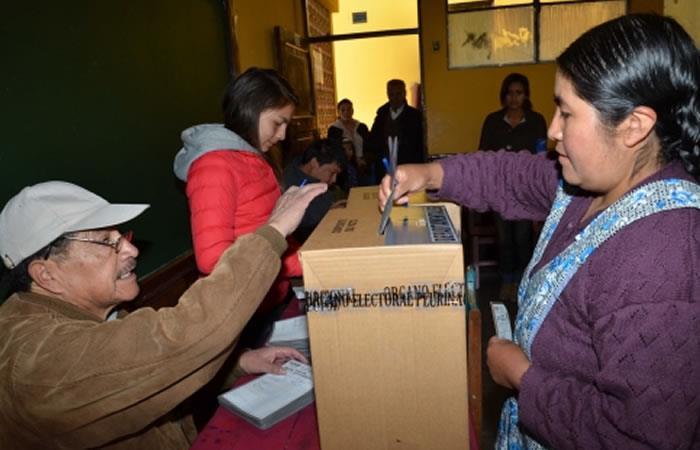 Elecciones generales en Bolivia. Foto: ABI.