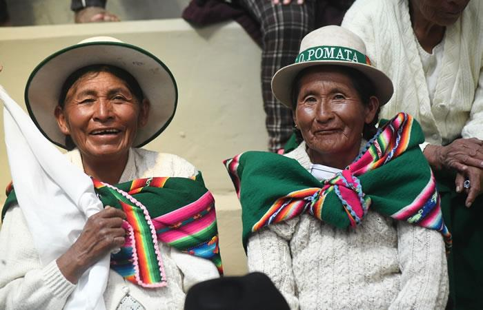 Conmemoración 'Día de la Mujer Boliviana'. Foto: ABI.