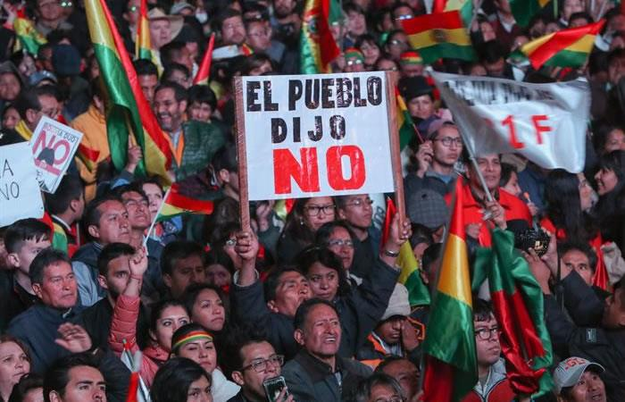 El mandatario Morales va por su cuarto mandato. Foto: ABI.