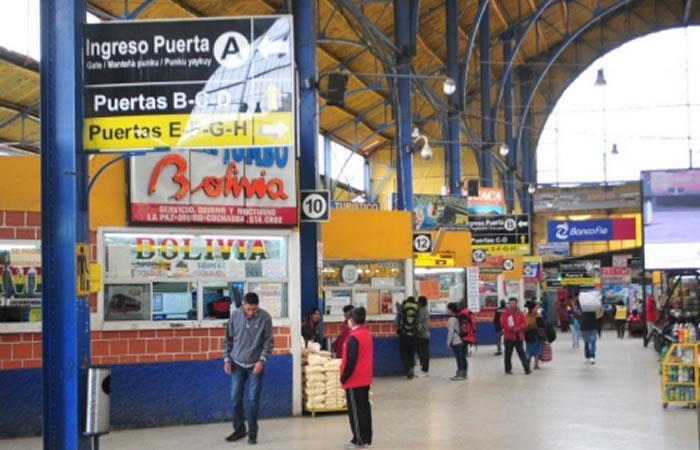 Terminal de transportes de Bolivia. Foto: ABI.