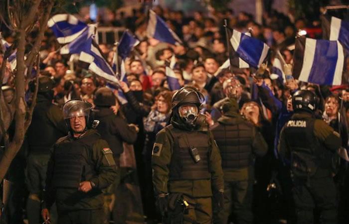 Manifestaciones de opositores ante posible fraude electoral. Foto: EFE.