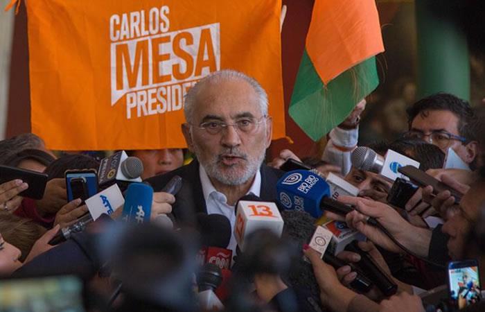 Carlos Mesa pide al mundo evitar que Bolivia se convierta en una dictadura