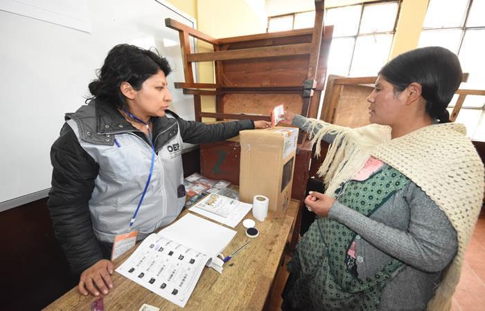 Auditoria integral a los comicios generales en Bolivia. Foto: ABI.