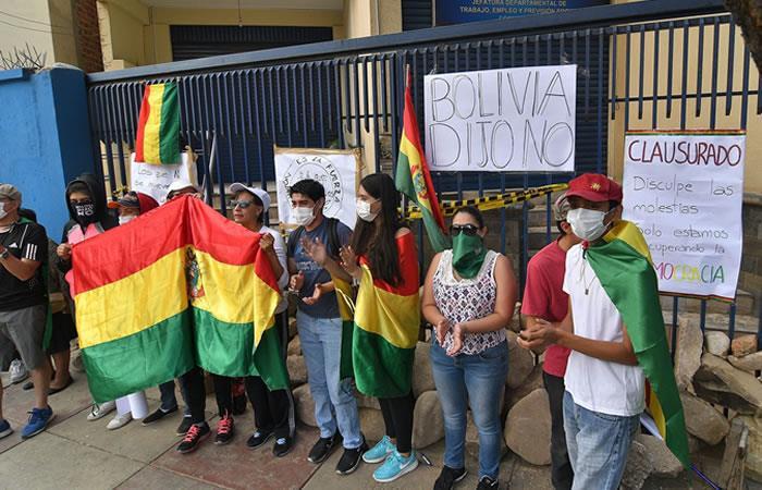 Bloqueos desde el 5 de noviembre en Cochabamba. Foto: EFE