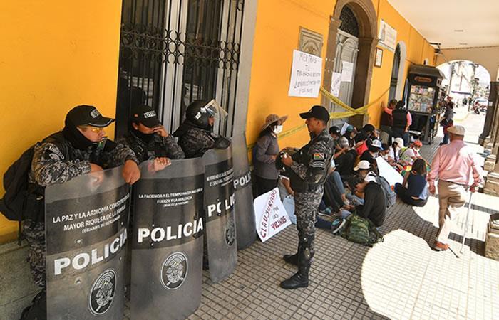 Protestas poselectorales en Bolivia. Foto: EFE