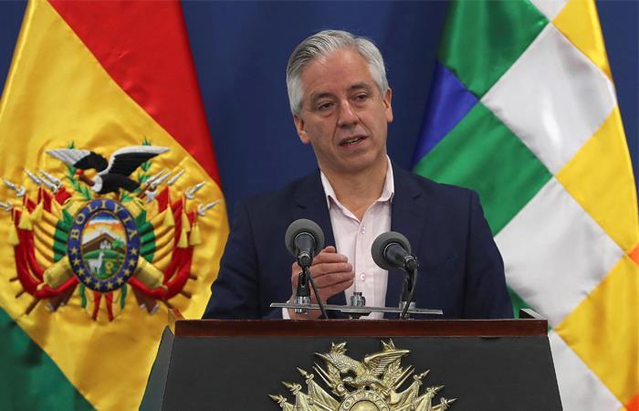 El vicepresidente culpó a Carlos Mesa y Luis Camacho de la violencia en Bolivia. Foto: EFE