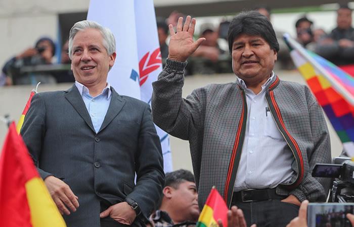 Evo Morales y Álvaro García Linera. Foto: EFE