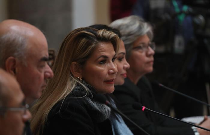 Presidenta interina de Bolivia, Jeanine Áñez. Foto: EFE