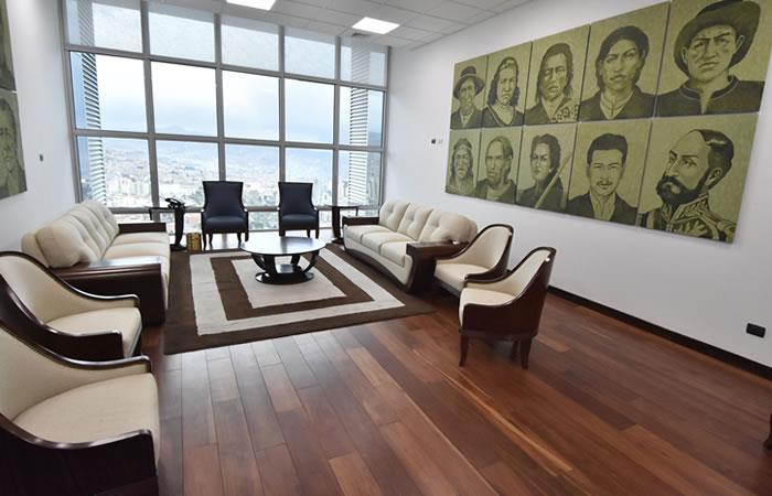 Suite presidencial que ocupó Evo en la Casa Grande del Pueblo. Foto: EFE