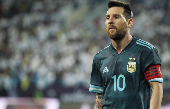 Lionel Messi en el partido de Argentina ante Brasil. Foto: EFE