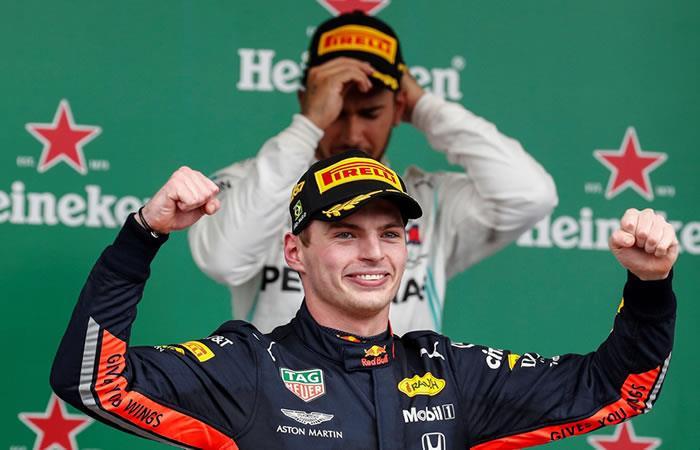 El holandés Max Verstappen gana el Gran Premio de Brasil. Foto: EFE