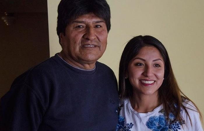 Evo Morales junto a su hija Evaliz Morales. Foto: Twitter