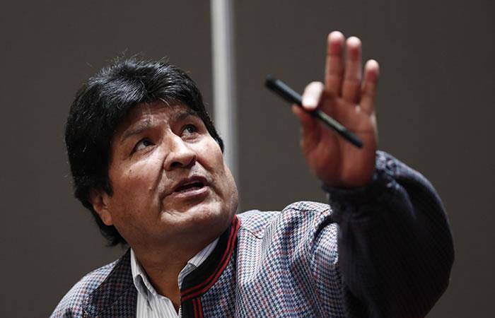 Evo Morales acusa represión y fallecidos a manos de la policía. Foto: EFE