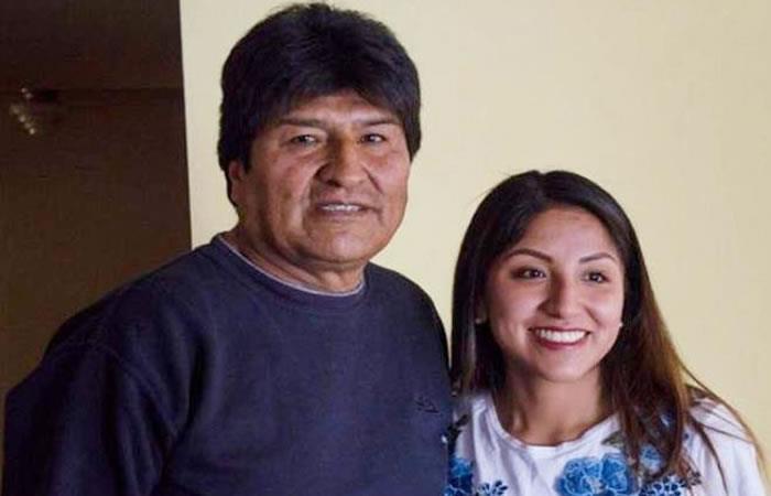 Expresidente de Bolivia, Evo Morales junto a su hija Evaliz. Foto: Instagram