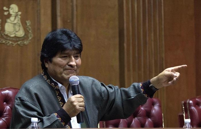 Morales asegura que lo están buscando. Foto: EFE