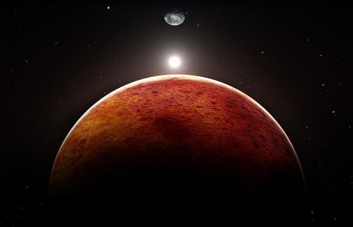 El planeta 'rojo' sorprendió con estas imágenes. Foto: Shutterstock.