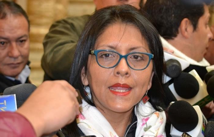 Gobierno denuncia a exministra López y a 22 personas por corrupción. Foto: ABI.
