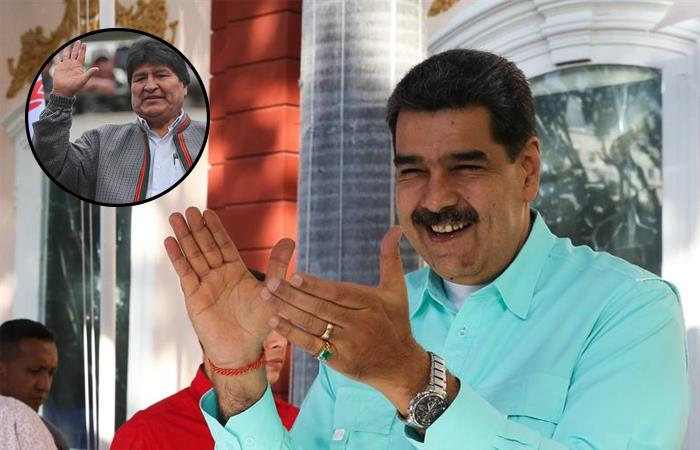 Recordemos que el exmandatario Morales y el presidente Maduro han mantenido una buena relación de amistad. Fotos: EFE.