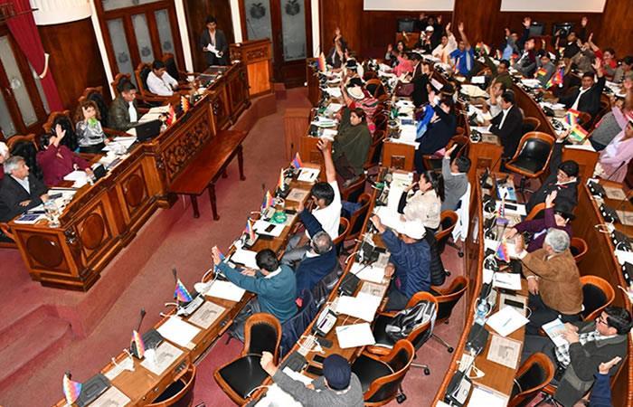 Diputados de Bolivia aprueban Ley