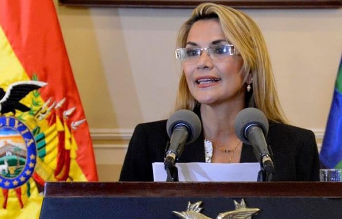 Presidenta Interina Jeanine Áñez. Foto: ABI.