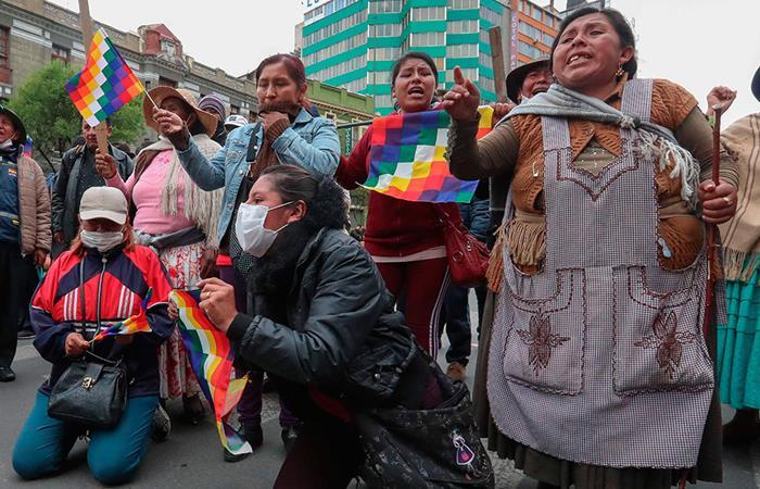 Secuelas emocionales por crisis en Bolivia. Foto: EFE.