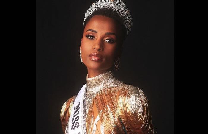 La sudafricana sucede como ganadora de Miss Universo a la filipina Catriona Gray. Foto: Instagram oficial @zozitunzi