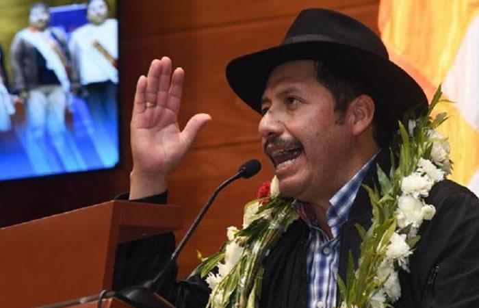 Orden de captura para el gobernador de Chuquisaca, Esteban Urquizu. Foto: ABI.