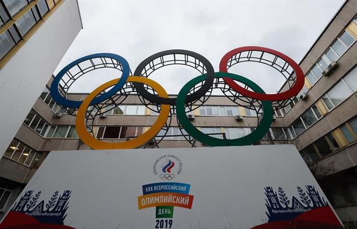Los atletas rusos podrían ser expulsados de los Juegos Olímpicos en Tokio y Beijing debido a los datos de dopaje de laboratorio manipulados. Foto: EFE.