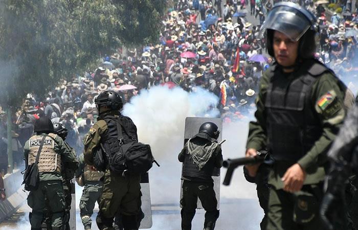 Según la Defensoría del Pueblo de Bolivia, los fallecidos desde el fraude de los comicios del pasado 20 de octubre superan los 20. Foto: EFE.