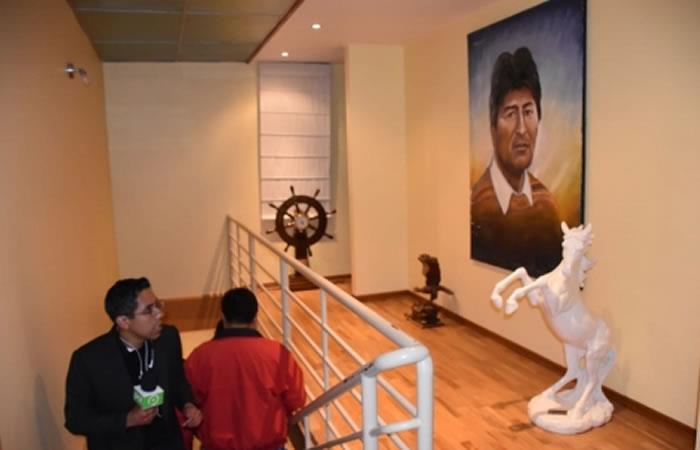Allanamiento en la 'Casa Evo Morales'. Foto: ABI.
