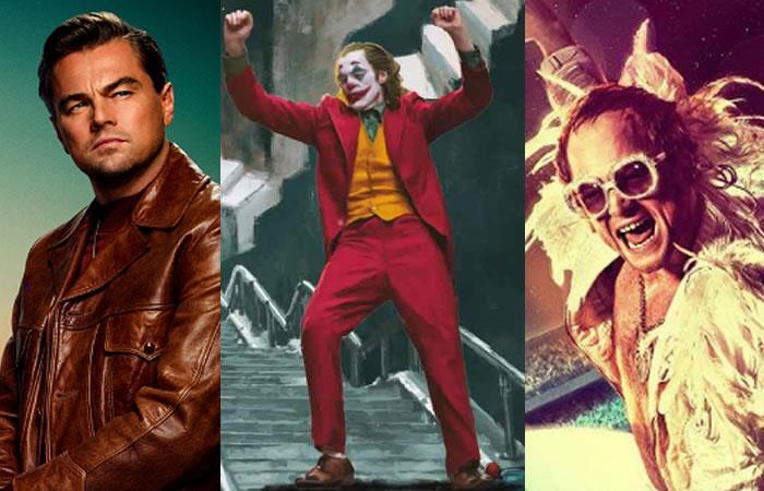 'Había una vez en Hollywood', 'Guasón' y 'Rocketman' hacen parte de las nominaciones. Foto: Twitter.