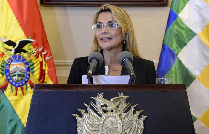 Jeanine Áñez, presidente interina de Bolivia. Foto: ABI