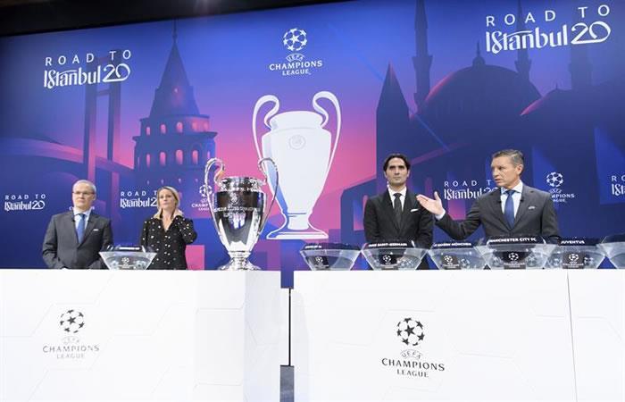 Ceremonia de sorteo de la UEFA Champions League. Foto: EFE