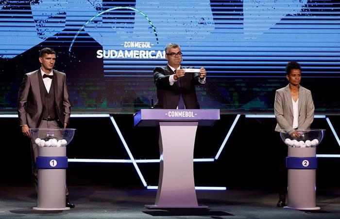 Sorteo de la edición 2020 de la Copa Sudamericana. Foto: EFE