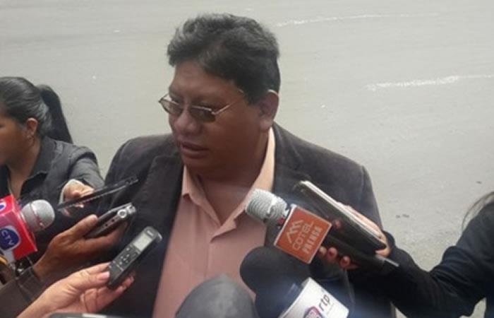 Presidente de la Federación de Micro y Pequeños Empresarios de La Paz (FEDEMyPE), Leonardo Chambi. Foto: ABI