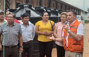 Gobierno entrega ayuda a afectados por incendio en la Chiquitania