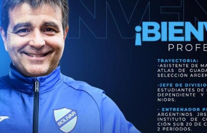 Claudio Vivas nuevo DT de Bolivar - Foto Twitter de Bolivar